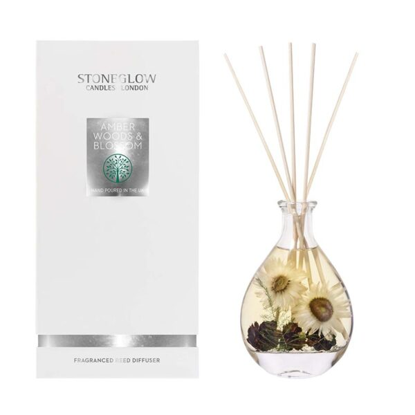 Stoneglow Natures Gift Amber Woods & Blossom Reed Diffuser