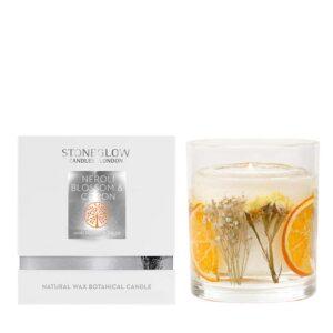 Stoneglow Natures Gift Neroli Blossom & Citron Vase Candle & Box