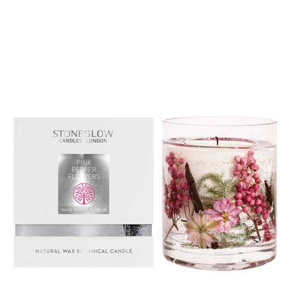 Stoneglow Natures Gift Pink Pepper Flowers Candle & Box