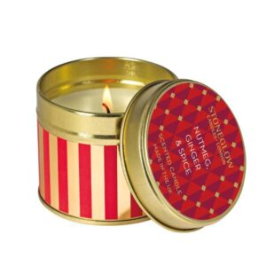 Stoneglow Nutmeg & Ginger Scented Candle Tin (1-wick)