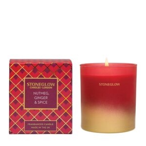 Stoneglow Nutmeg, Ginger & Spice Fragranced Candle (1-wick)