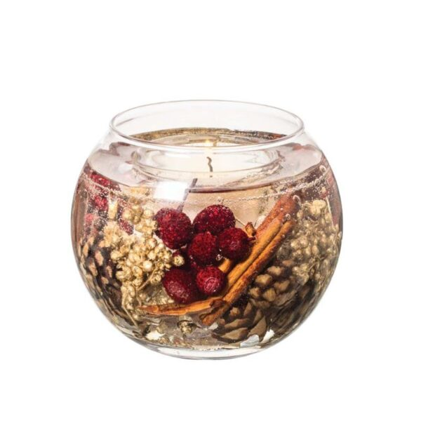 Stoneglow Nutmeg, Ginger & Spice Fragranced Fishbowl Candle (1 wick)