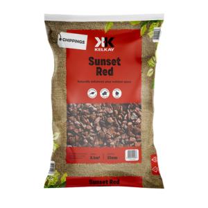 Kelkay Chippings - Sunset Red (Large Pack) - Red Granite Type Stone