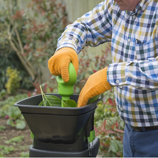 Wear gloves & handle with care when using The Handy Electric Impact Shredder with Box & Detachable Hopper
