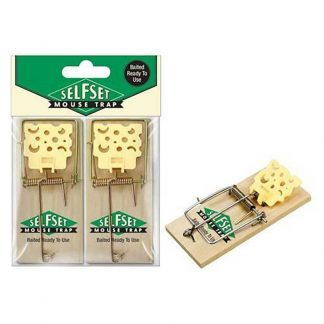 Selfset Baited Ready To Use Wooden Mouse Traps Twin Pack
