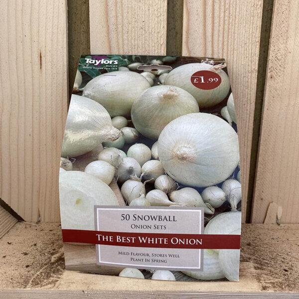 Taylors Snowball 50 Onion Sets