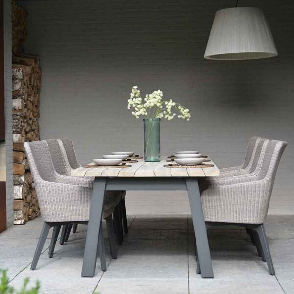 The 4 Seasons Outdoor – Luxor Dining Set for 6 with Derby Table