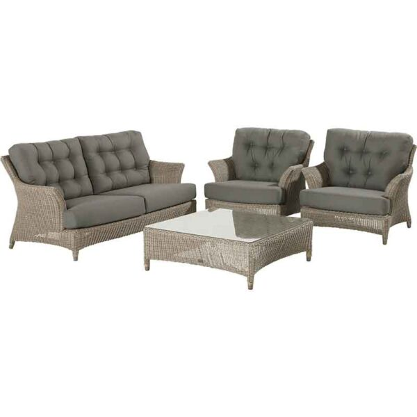 The 4 Seasons Outdoor - Valentine Relaxing Garden Lounge Suite in Pure