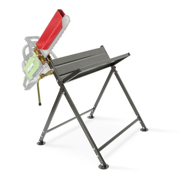 The Handy Foldable Saw Horse With Chainsaw Support