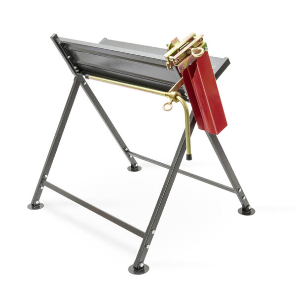 The Handy Foldable Saw Horse With Chainsaw Support back