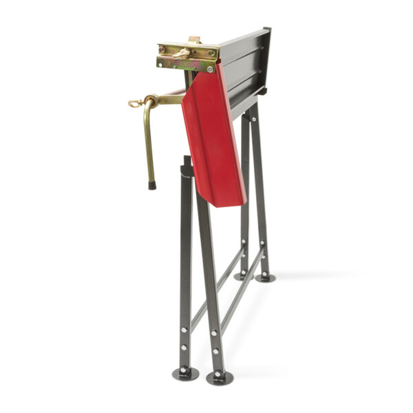 The Handy Foldable Saw Horse With Chainsaw Support folded