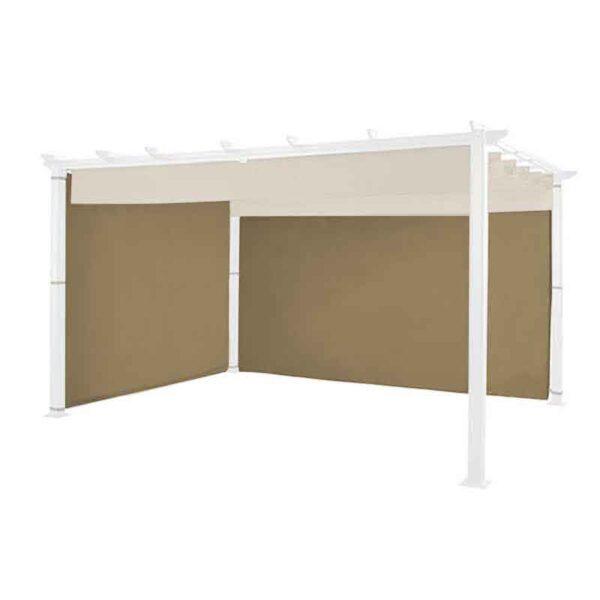 The Hartman Curtains Pack for Square 3x3m Roma Pergola in Caramel