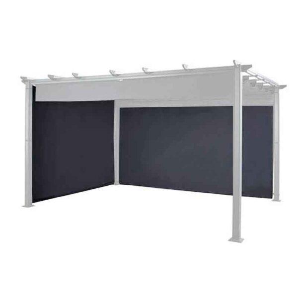 The Hartman Curtains Pack for rectangular 3x4m Roma Pergola in Grey