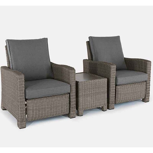 The Kettler Palma Duo Relaxer Set in Rattan