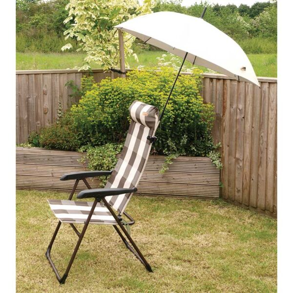 The Quest Universal Clamp-On Sun Shade on a chair