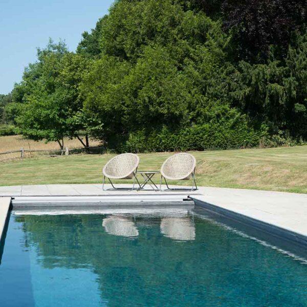 Tobs Faux Rattan Folding Lounge Set poolside