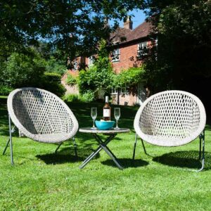 Tobs Faux Rattan Folding Lounge Set