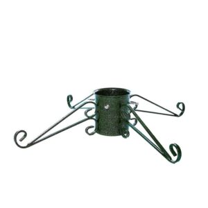 Tom Chambers Ornate Christmas Tree Stand in Green (15cm)