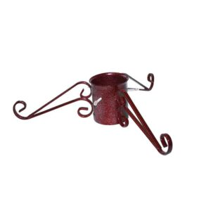 Tom Chambers Ornate Christmas Tree Stand in Mulberry Red (13cm)