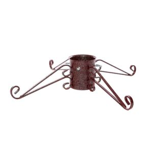 Tom Chambers Ornate Christmas Tree Stand in Mulberry Red (15cm)