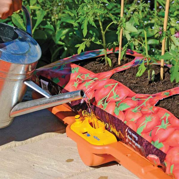 Top up the Hozelock Growbag Waterer with fresh water