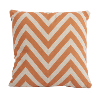 Chevron Orange Square Scatter Cushion