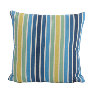Bramblecrest Stripe Blue Square Scatter Cushion