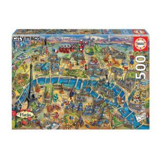 University Games City Map Paris 500pc Jigsaw Puzzle Box