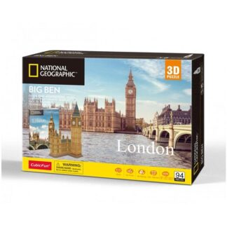 University Games National Geographical London Big Ben 3D Puzzle Box