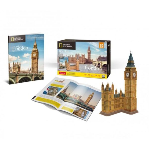 University Games National Geographical London Big Ben 3D Puzzle Contents