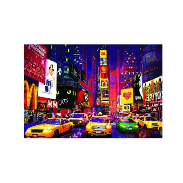 University Games educa borras neon times square new york 1000 piece jigsaw puzzle