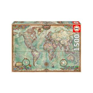 University Games educa borras world map 1500 piece jigsaw puzzle Box