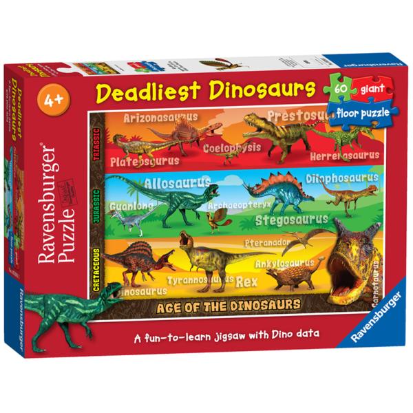 Ravensburger Puzzle Deadliest Dinosaurs 60 giant pieces