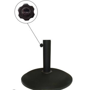 Sturdi Concrete 25kg Black Parasol Base