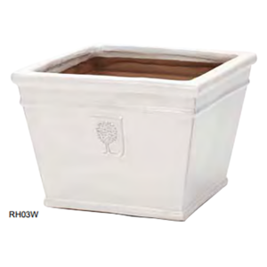 RHS Classic White Low Square 37cm (Large)