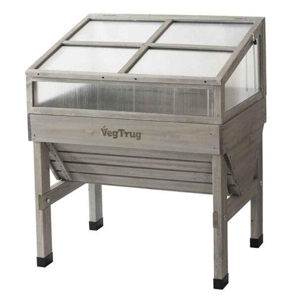 VegTrug Cold Frame Grey Wash (Small 1m) closed