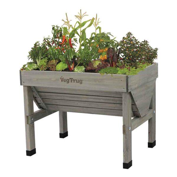 VegTrug Grey Wash (Small 1m) planted