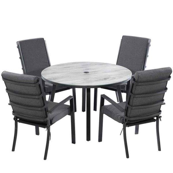 Vienna 4 Seat Round Dining Set