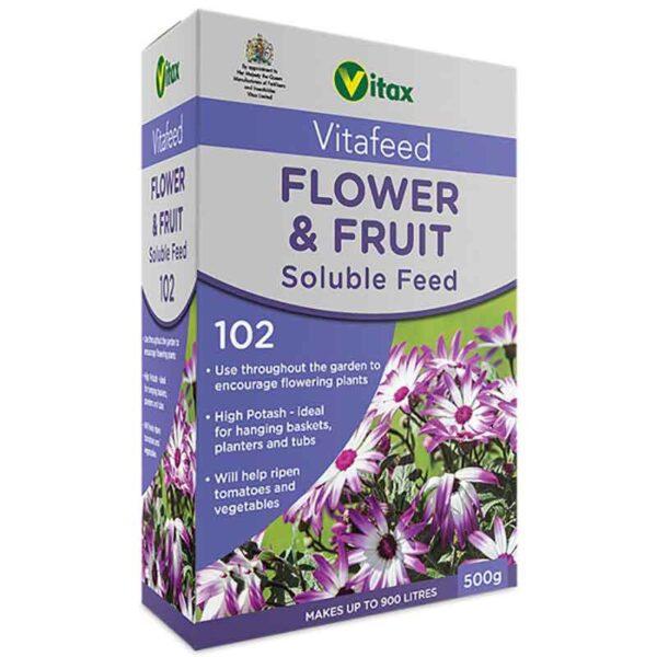 Vitax Vitafeed Flower & Fruit Soluble Feed 102 (500g)