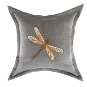 Voyage Maison Aria Grey Velvet Cushion 50 x 50