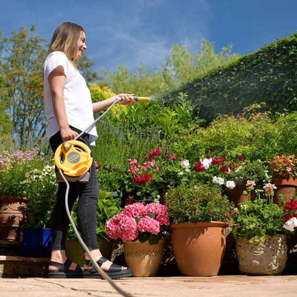 Watering pots with the Hozelock Micro Reel