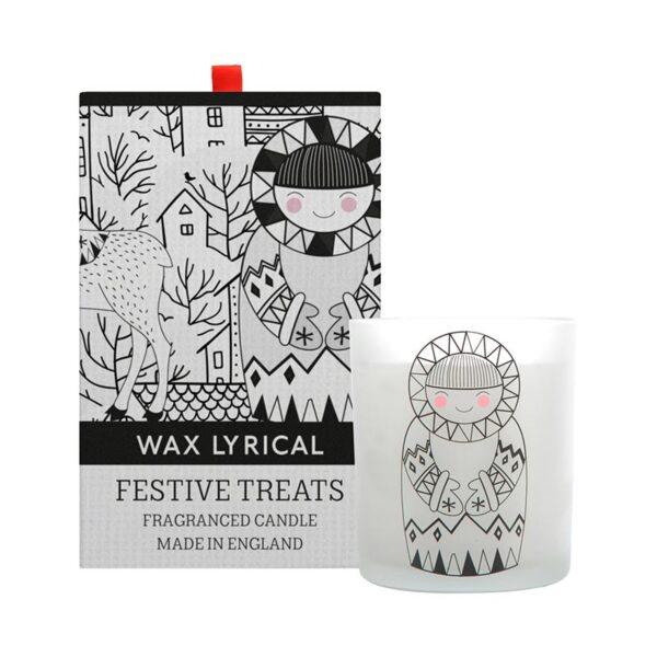 Wax Lyrical Christmas Fragranced Candle - Festive Treats (1-Wick)