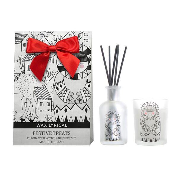 Wax Lyrical Fragranced Candle & Diffuser Set - Festive Treats
