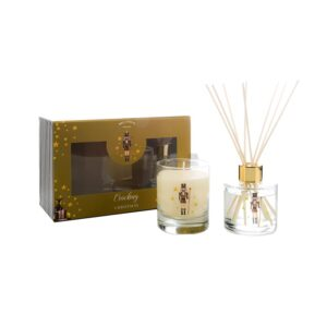 Wax Lyrical Fragranced Candle & Reed Diffuser Gift Set - Cracking Christmas