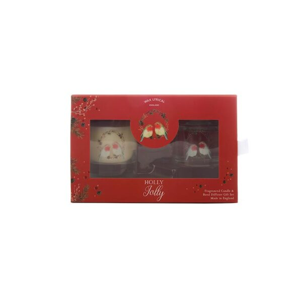 Wax Lyrical Fragranced Candle & Reed Diffuser Gift Set - Holly Jolly 2