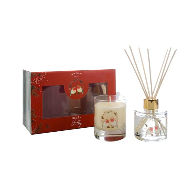 Wax Lyrical Fragranced Candle & Reed Diffuser Gift Set - Holly Jolly
