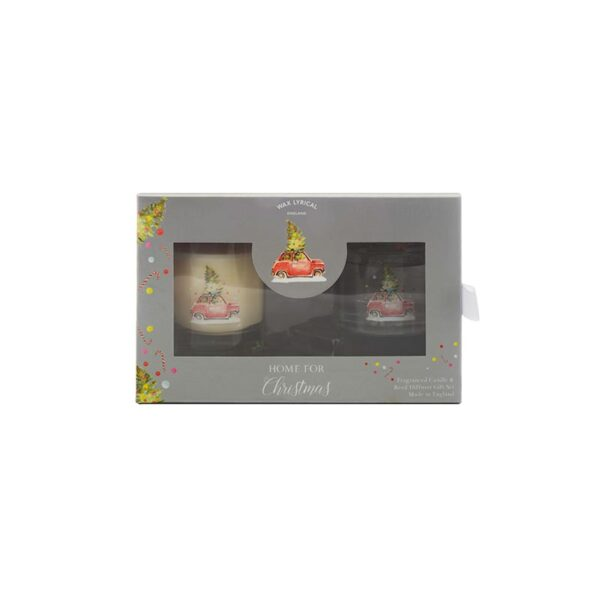 Wax Lyrical Fragranced Candle & Reed Diffuser Gift Set - Home For Christmas 2