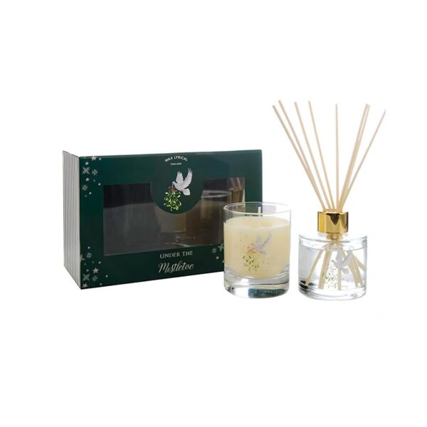 Wax Lyrical Fragranced Candle & Reed Diffuser Gift Set - Under The Mistletoe