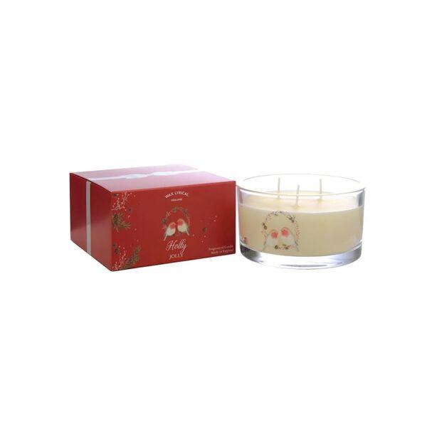 Wax Lyrical Multi Wick Fragranced Candle Holly Jolly (3-Wicks)