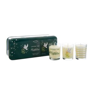 Wax Lyrical Votive Candle Tin Under The Mistletoe -Set of 3